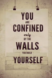 you-are-confined-only-by-the-walls-you-build-yourself-quote