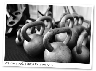 We have Kettle bells for everyone!